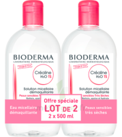 CREALINE TS H2O Solution micellaire sans parfum nettoyante apaisante 2Fl/500ml à CANEJAN