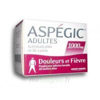 ASPEGIC ADULTES 1000 mg, poudre pour solution buvable en sachet-dose 20 à CANEJAN