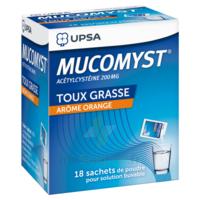 MUCOMYST 200 mg Poudre pour solution buvable en sachet B/18 à CANEJAN