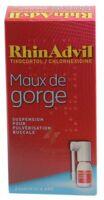 RHINADVIL MAUX DE GORGE TIXOCORTOL/CHLORHEXIDINE, suspension pour pulvérisation buccale à CANEJAN