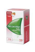 Nicorette 2 mg Gomme à mâcher médicamenteuse sans sucre fruits Plq/105 à CANEJAN