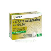 Citrate de Bétaïne UPSA 2 g Comprimés effervescents sans sucre menthe édulcoré à la saccharine sodique T/20 à CANEJAN