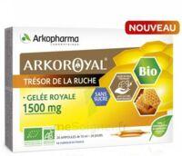 Arkoroyal Gelée royale bio sans sucre 1500mg Solution buvable 20 Ampoules/10ml à CANEJAN