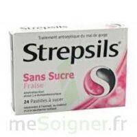 STREPSILS FRAISE SANS SUCRE, pastille édulcorée à l'isomalt, au maltitol et à la saccharine sodique à CANEJAN