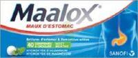MAALOX HYDROXYDE D'ALUMINIUM/HYDROXYDE DE MAGNESIUM 400 mg/400 mg Cpr à croquer maux d'estomac Plq/40 à CANEJAN