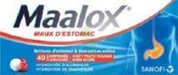 MAALOX MAUX D'ESTOMAC HYDROXYDE D'ALUMINIUM/HYDROXYDE DE MAGNESIUM 400 mg/400 mg SANS SUCRE FRUITS ROUGES, comprimé à croquer édulcoré à la saccharine sodique, au sorbitol et au maltitol à CANEJAN