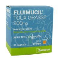 FLUIMUCIL EXPECTORANT ACETYLCYSTEINE 200 mg SANS SUCRE, granulés pour solution buvable en sachet édulcorés à l'aspartam et au sorbitol à CANEJAN