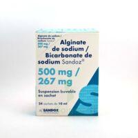 ALGINATE DE SODIUM/BICARBONATE DE SODIUM SANDOZ 500 mg/267 mg, suspension buvable en sachet à CANEJAN
