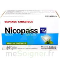 Nicopass 1,5 mg Pastille sans sucre menthe fraîcheur Plq/96 à CANEJAN