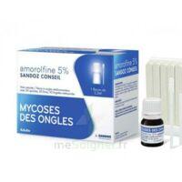 AMOROLFINE SANDOZ CONSEIL 5 % V ongles médicamenteux Fl/2,5ml+30 spatules à CANEJAN