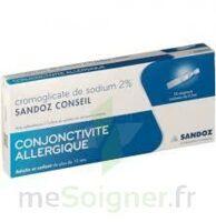 CROMOGLICATE DE SODIUM SANDOZ CONSEIL 2 %, collyre en solution en récipient unidose 10Unid/0,3ml à CANEJAN