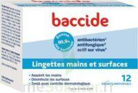 Baccide Lingette désinfectante mains & surface 12 Pochettes à CANEJAN