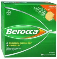 Berocca Comprimés effervescents sans sucre T/60 à CANEJAN