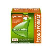 Nicorette 2 mg Gomme à mâcher médicamenteuse sans sucre fruits Plq/210 à CANEJAN