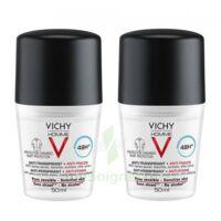 Vichy Homme Déodorant anti-transpirant anti trace 48H 2*Billes/50ml à CANEJAN