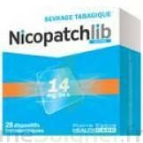 NICOPATCHLIB 14 mg/24 h Dispositifs transdermiques B/28 à CANEJAN