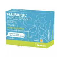FLUIMUCIL EXPECTORANT ACETYLCYSTEINE 600 mg Glé s buv adultes 10Sach à CANEJAN