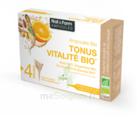 Nat&Form Ampoules Solution buvable Tonus Vitalité Bio 20 Ampoules/10ml à CANEJAN