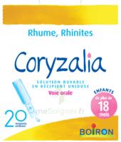 Boiron Coryzalia Solution buvable unidose B/20 à CANEJAN